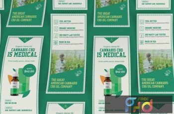 Cannabis Hemp Oil Products DL Rackcard NR4GFEQ 6