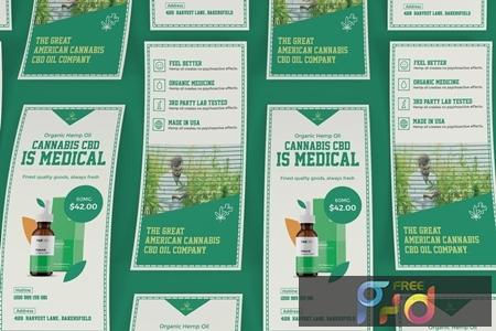 Cannabis Hemp Oil Products DL Rackcard NR4GFEQ 1