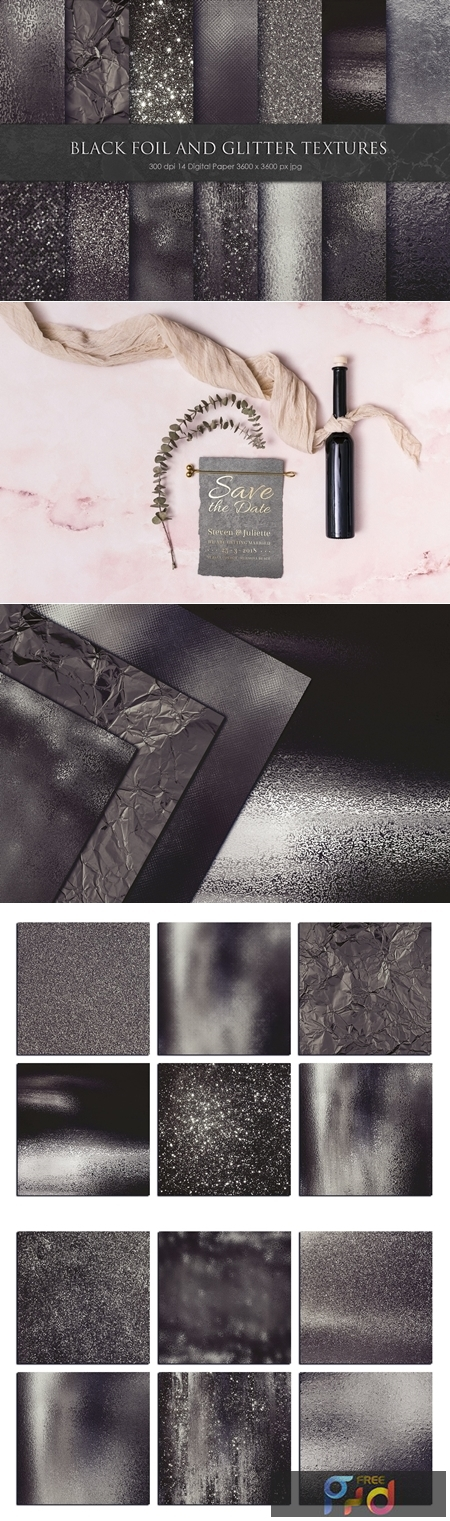 Black Foil and Glitter Textures 3329736 1