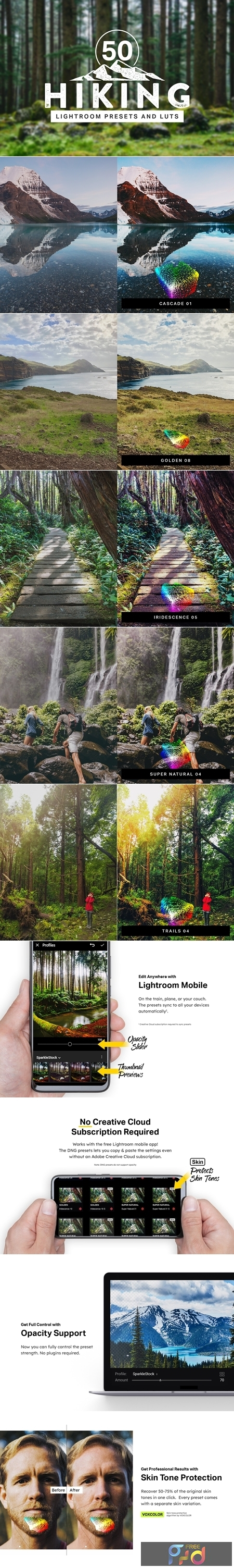 50 Hiking Lightroom Presets and LUTs 4319189 1