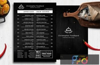 Blackboard Food Menu 29 9N7RJ2X 2