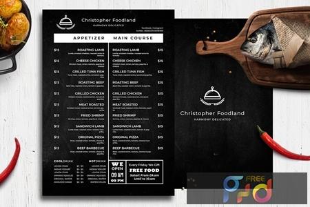 Blackboard Food Menu 29 9N7RJ2X 1