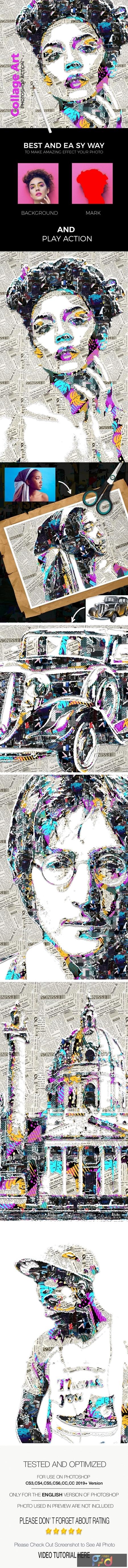 Collage Art Photoshop Action 24972417 1