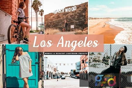 Los Angeles Mobile & Desktop Lightroom Presets WBBHJXW 1