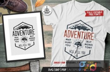 Adventure Logo Design, Camping Retro Hiking Tshirt Y3DGW3M 8