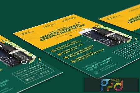Cannabis Hemp Oil Products Flyer PSD Template TTUA9H8 1