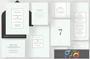 Modern Sketch Invitation Suite GEPPYN3 2