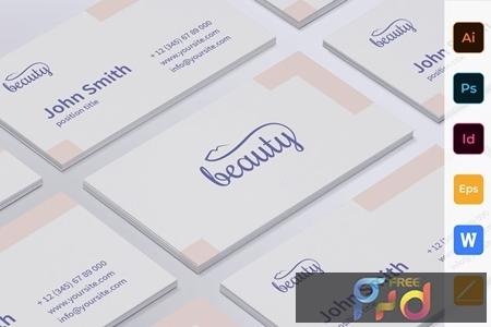 Skin Beauty Clinic Business Card TTV8RF9 1