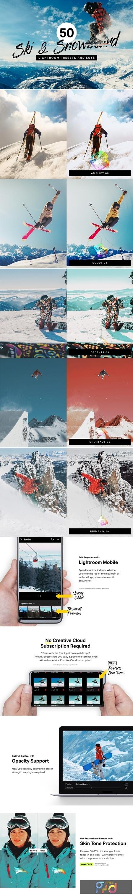 50 Ski & Snowboard Lightroom Presets 4310535 1