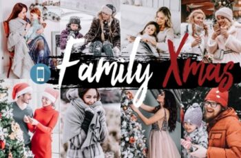 05 Family Xmas Lightroom Presets and Photoshop Actions ACR LUT 2117417