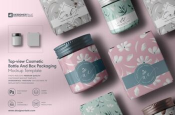 Cosmetic Bottle And Box Mockup 4130807 4