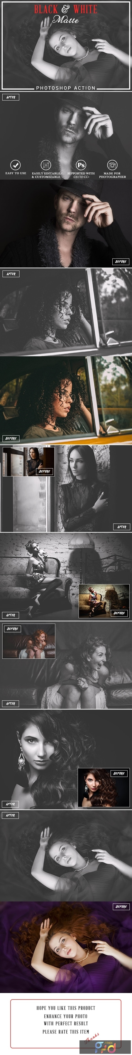Black & White Matte Photoshop Action 24958508 1