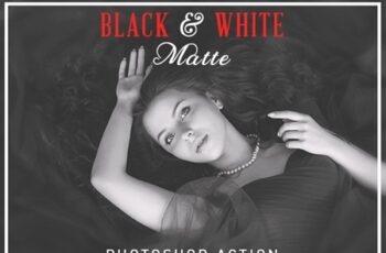 Black & White Matte Photoshop Action 24958508 2