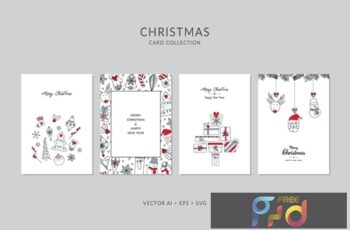 Christmas Greeting Card Vector Set 29WES62 10