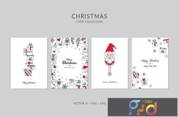 Christmas Greeting Card Vector Set 69BCV3C 9