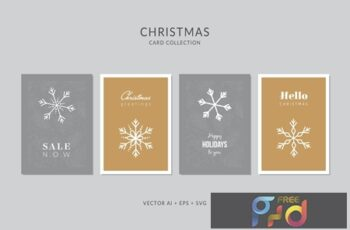 Christmas Greeting Card Vector Set ATLU6US 8
