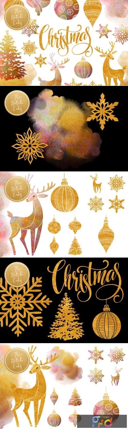 Christmas Ornaments Clipart Set 2007624 1