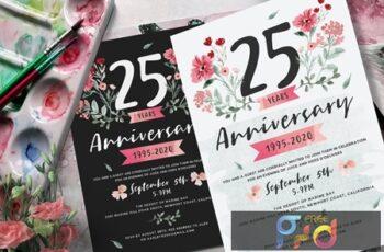 Flower Anniversary Invitation 2LMUPCM 4