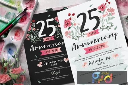 Flower Anniversary Invitation 2LMUPCM 1