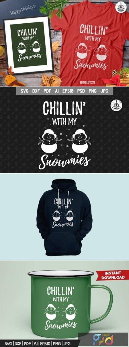 Funny Christmas Snowman TShirt Retro 2007237 1