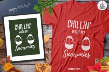 Funny Christmas Snowman TShirt Retro 2007237 8