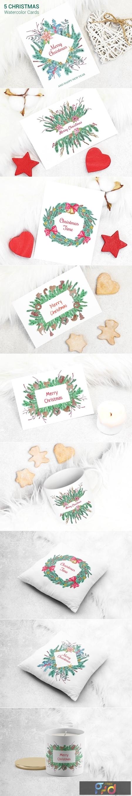 Greeting Christmas Cards Set 2002872 1