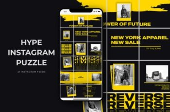 Hype Instagram Puzzle Templates 2006676 3