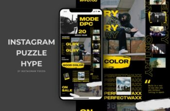 Instagram Puzzle Hype Templates 2006692 5