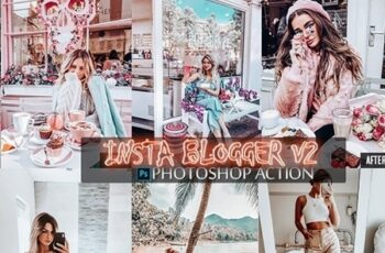 Insta Blogger Photoshop Action V2 24778788 2