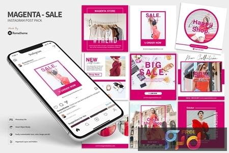 Magenta - Fashion sale Instagram post HR SCRVXRF 1