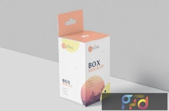 Box Mockup Set - Short Rectangle Size with Hanger X4A22UH 4
