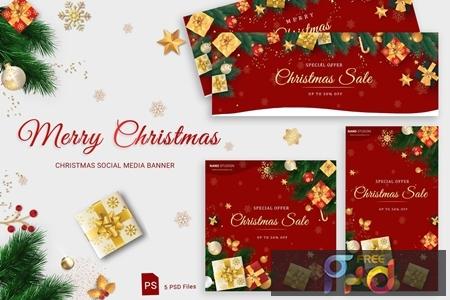 Christmas Social Media Banner DVGLXJC 1