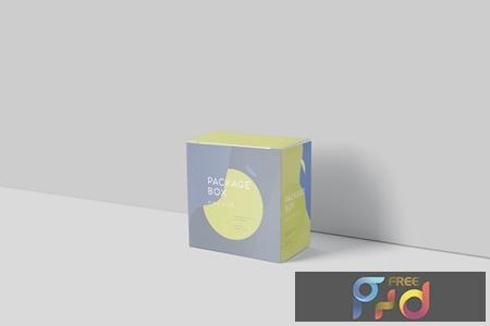 Package Box Mockup Set - Slim Square WZP6CKX 1