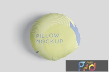Pillow Mockup Set - Round X2A8CNN 7