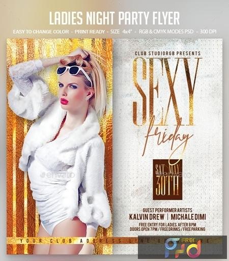 Ladies Night Party Flyer 24881820 1