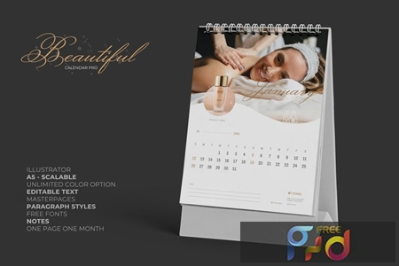 2020 Clean Creative Beauty Calender Pro 4UNXL8T 1