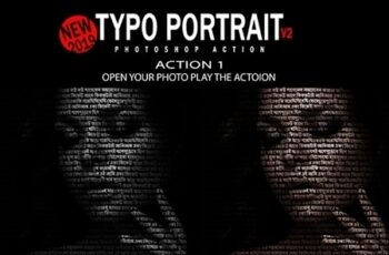 Typo Portrait v2 Photoshop Action 25048414 3