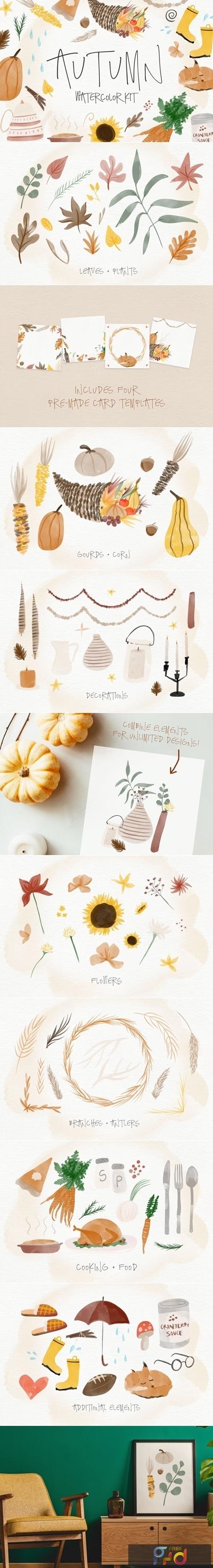 Autumn Watercolor Kit 4164444 1