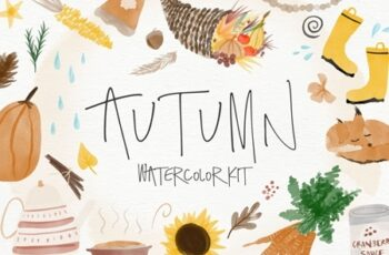 Autumn Watercolor Kit 4164444 4