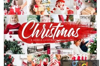 8 CHRISTMAS Lightroom Mobile Presets 4268676 4