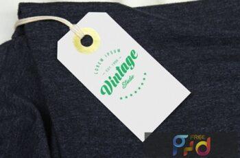 Branding Label Tag Mockup PSQW2F7 7