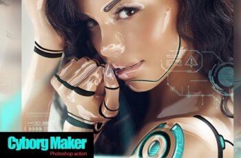 Cyborg Maker Photoshop Action 4267630 5