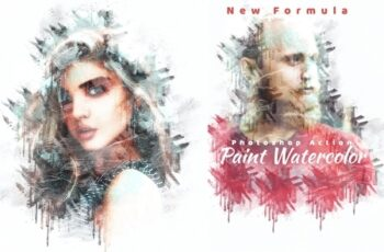 Paint Watercolor Photoshop Action 4280452 4