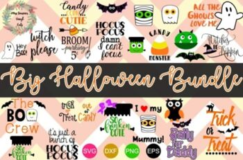 Big Halloween Bundle 22 Cut Files 2012507 5
