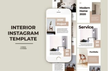 Interior Instagram Templates 2013552 2