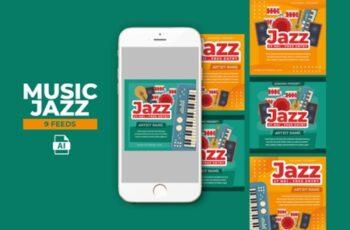 Music Jazz Instagram Templates 2013549 7