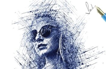Pen Sketch Photoshop Action 25003520 7
