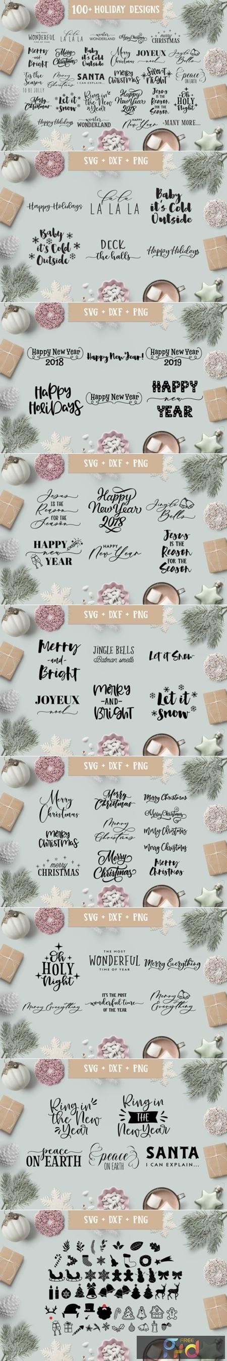 Christmas-Holiday Quotes SVG Bundle 2012477 1