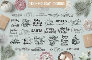 Christmas-Holiday Quotes SVG Bundle 2012477 3