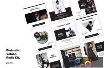 Social Media Kit Minimal Fashion NVGRKDR 4